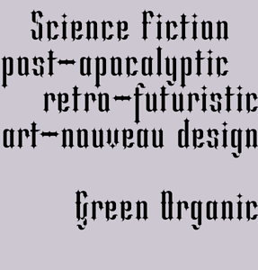 Green Organic font sample