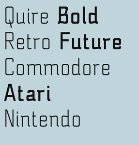 Quire font sample