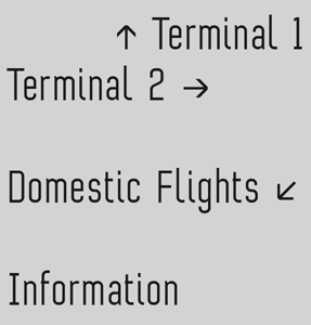 Terminal One font sample